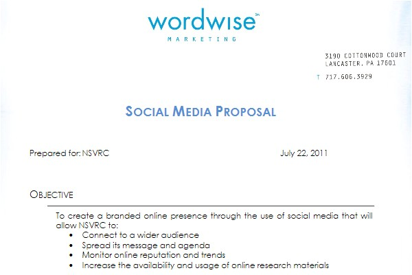 Social Media Marketing Proposal Template Free social Media Proposal Best Templates to Win Clients