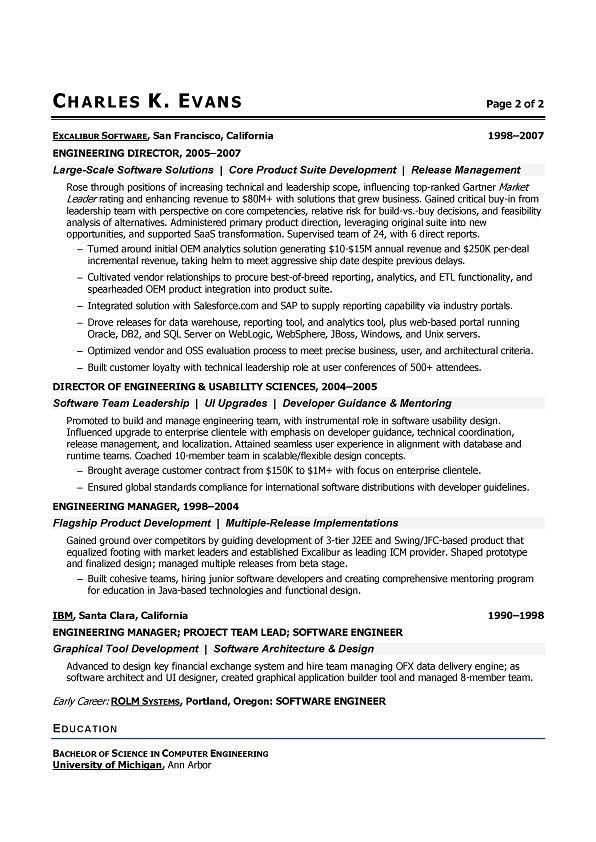 write software engineer resume