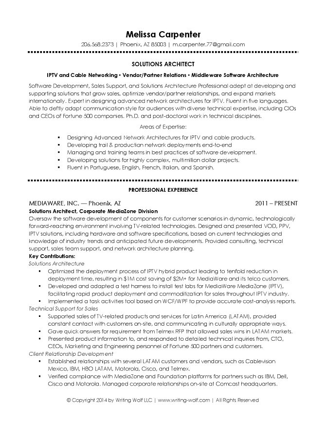 Solution Architect Resume Template It solutions Architect Resume Writing Wolf Resume Writer