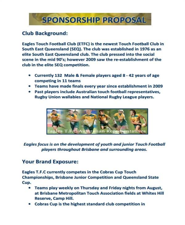 1747 sports team sponsorship proposal template