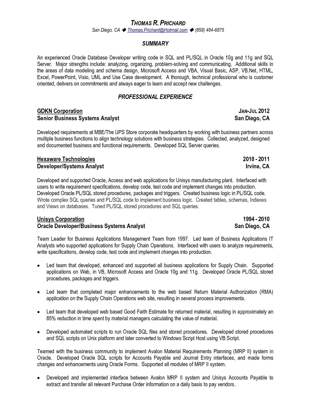 Sql Fresher Resume Sample Sample Resume for Sql Developer Fresher Resume Ideas