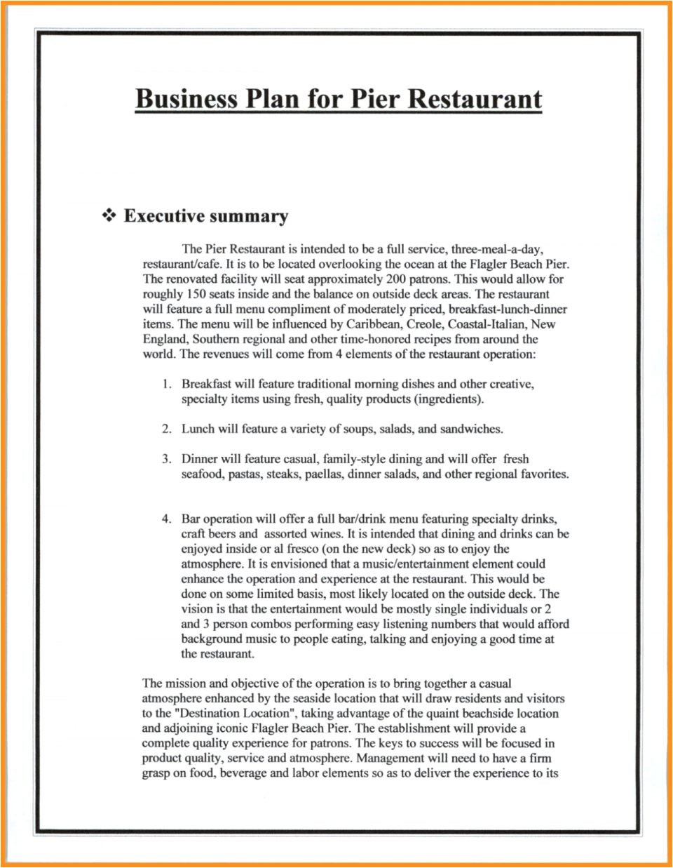 restaurant business plan template for fast food pdf cmerge proposal sample indian restauran