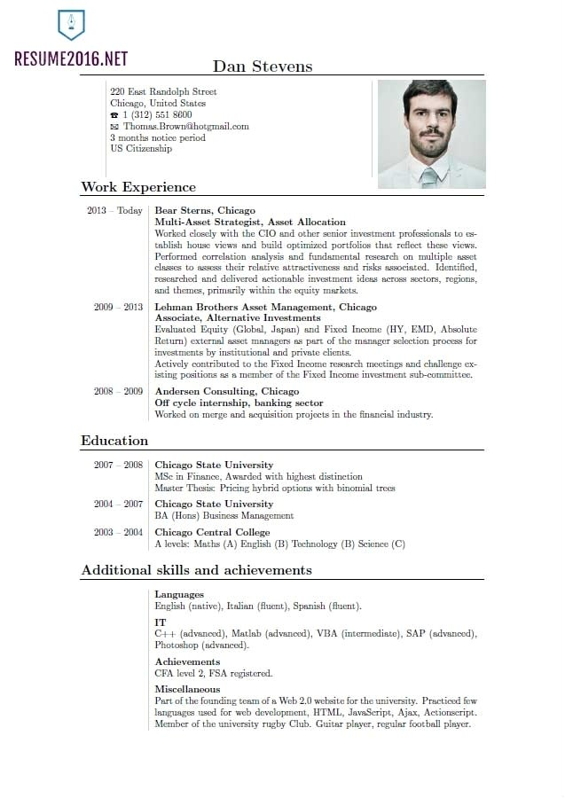 current resume styles template