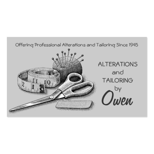 Tailoring Business Card Templates Free Create Your Own Tailor Business Cards