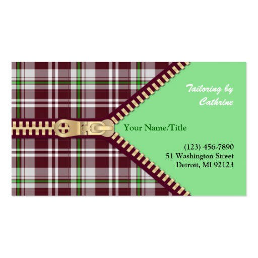 Tailoring Business Card Templates Free Fashion Tailoring Business Card Zazzle