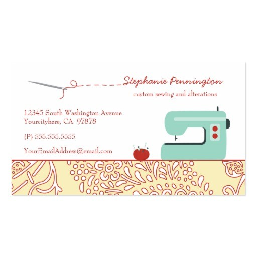 free business card templates sewing
