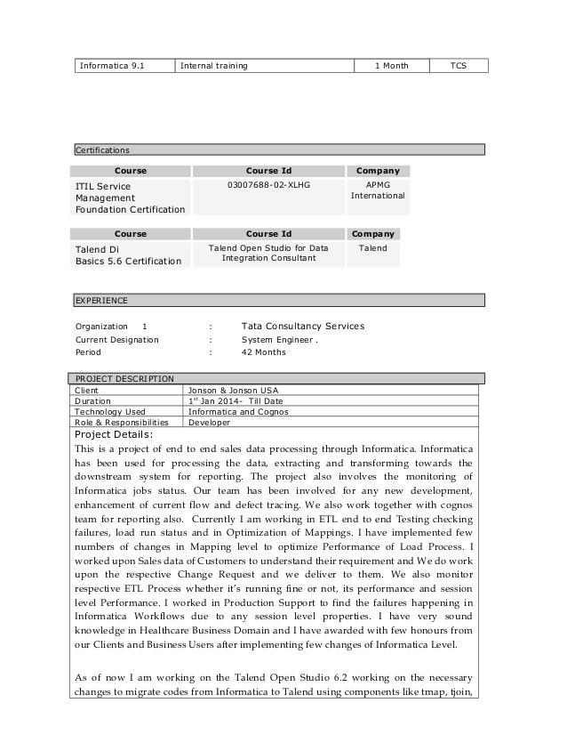 talend resume