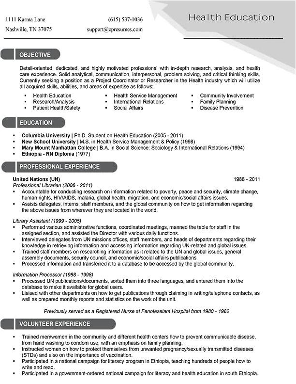Targeted Resume Sample Targeted Resume Sample Best Professional Resumes