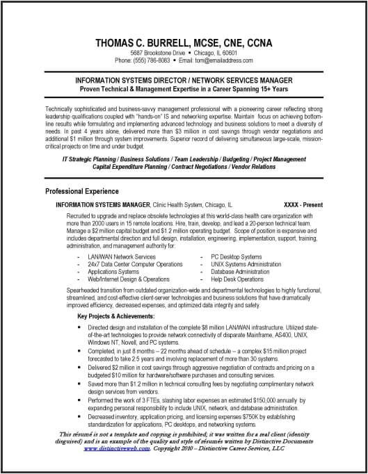 Technical Manager Resume Samples Technical Resume Sample