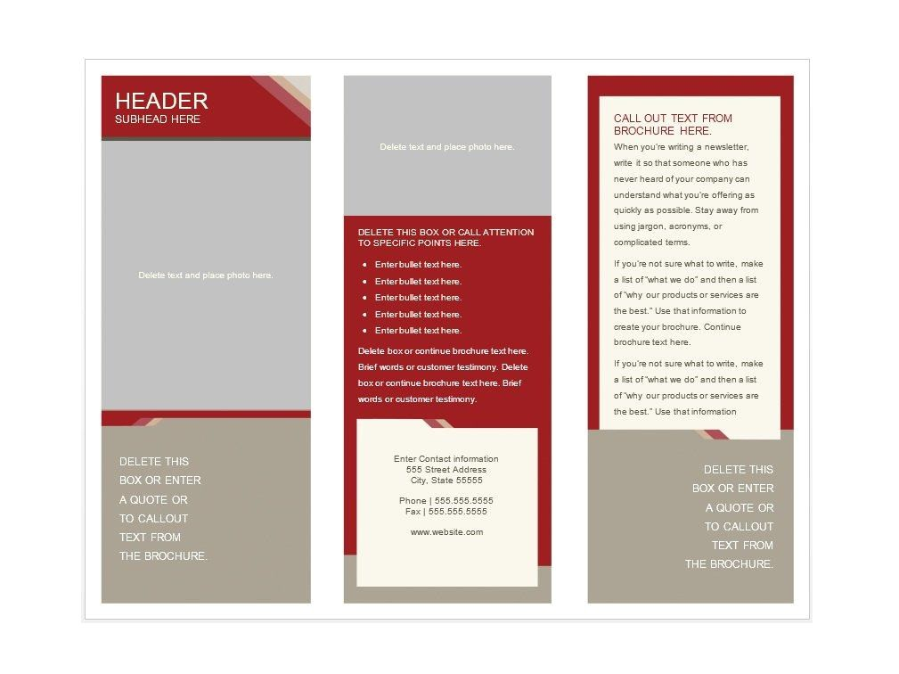 Template for Brochures Free Download 31 Free Brochure Templates Ms Word and Pdf Free