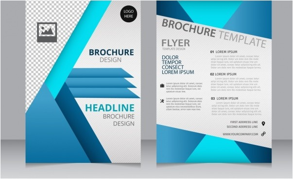 pages template brochure