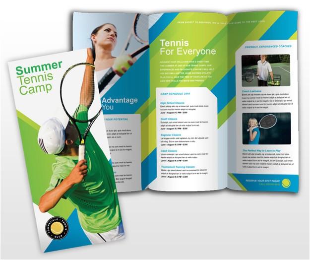 tennis brochure templates free