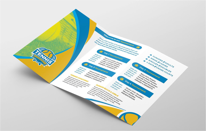 tennis tri fold brochure template