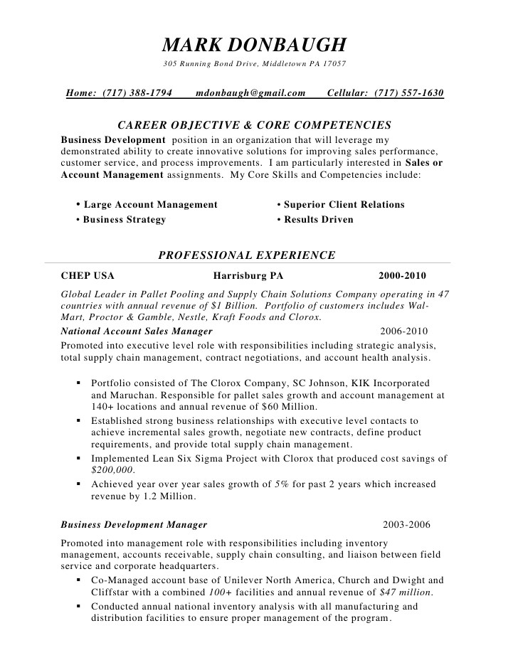 territory sales manager resume sample