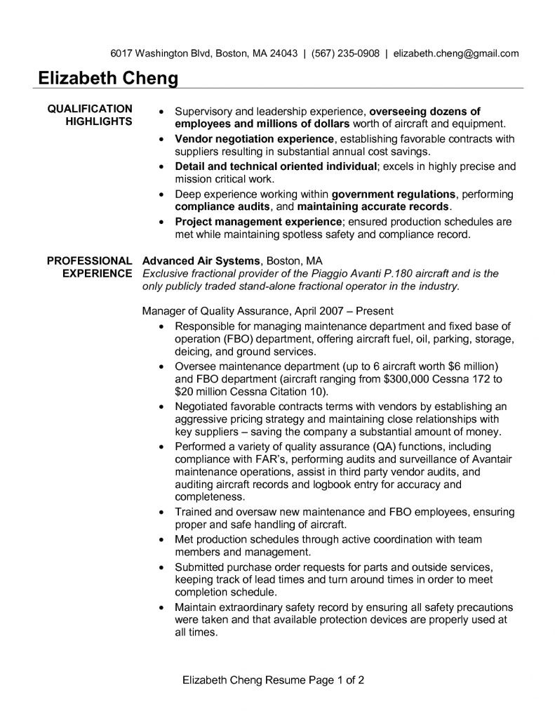 test manager resume sample india