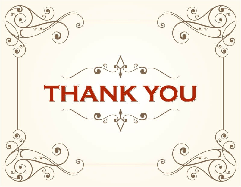 thank you card template 407127