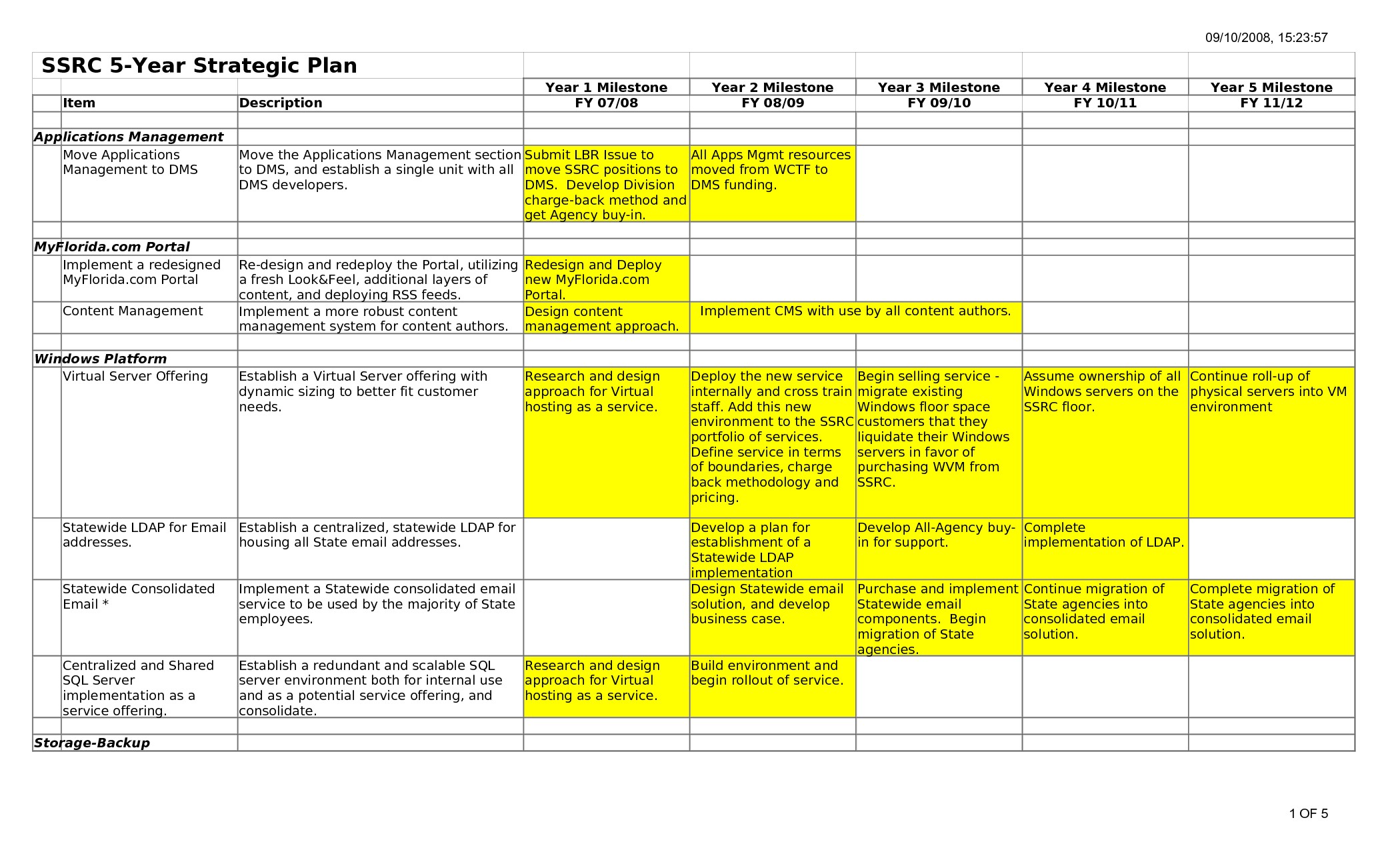 5 year business plan template