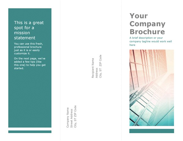 three page brochure template