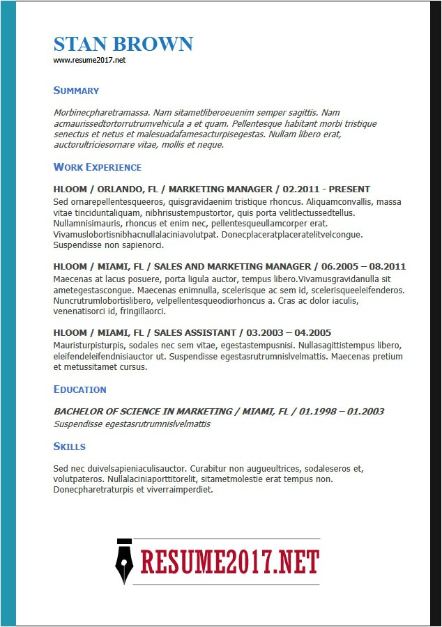 Top 10 Resume Templates 2018 Resume format 2018 16 Latest Templates In Word