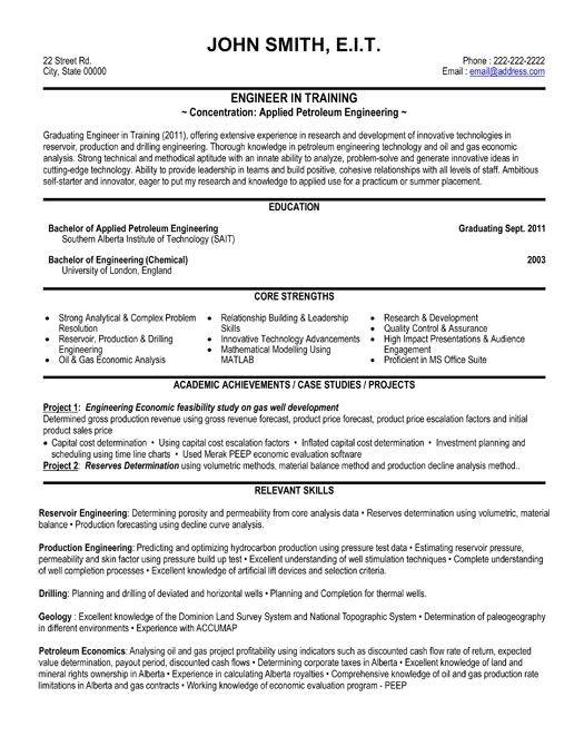 best engineering resume templates samples