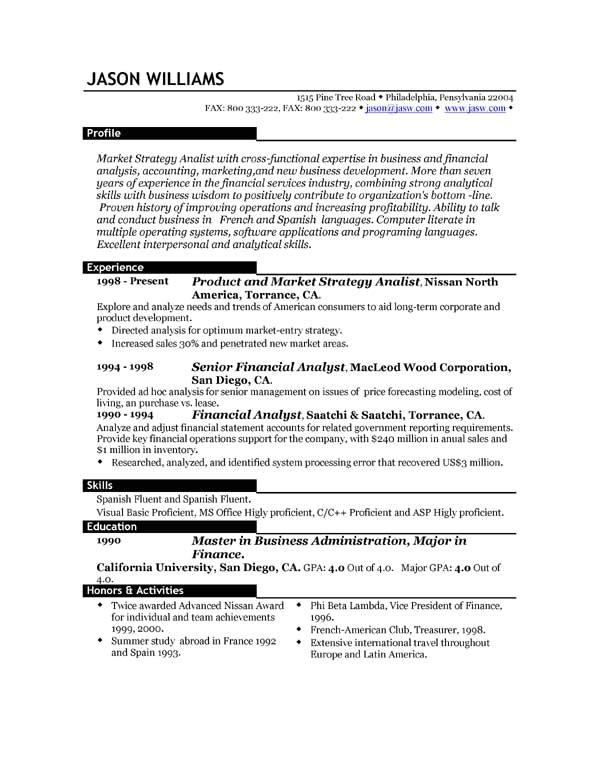 Top It Resumes Samples Sample Resume 85 Free Sample Resumes by Easyjob Sample