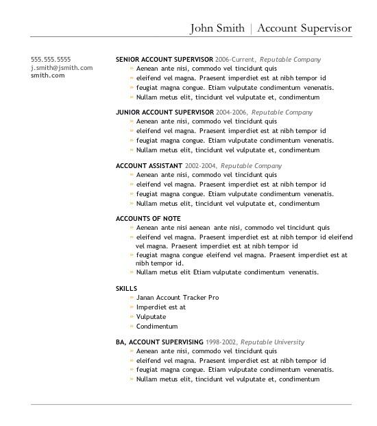 Top Resume Templates Free 7 Free Resume Templates