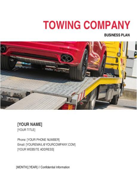 a sample tow truck business plan template