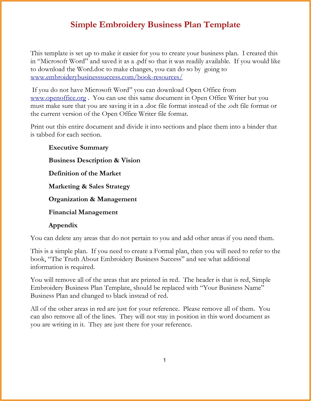 Towing Business Plan Template Simple Business Plan Template Free Download Business form