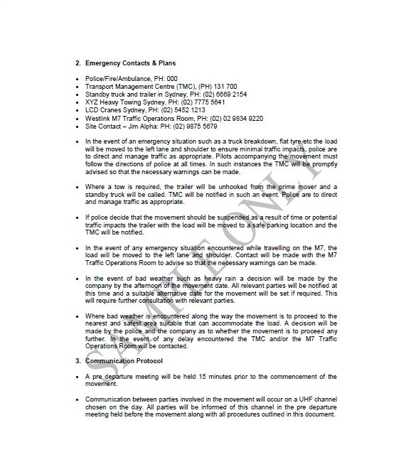 towing business plan template