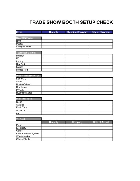 checklist trade show booth setup d1388