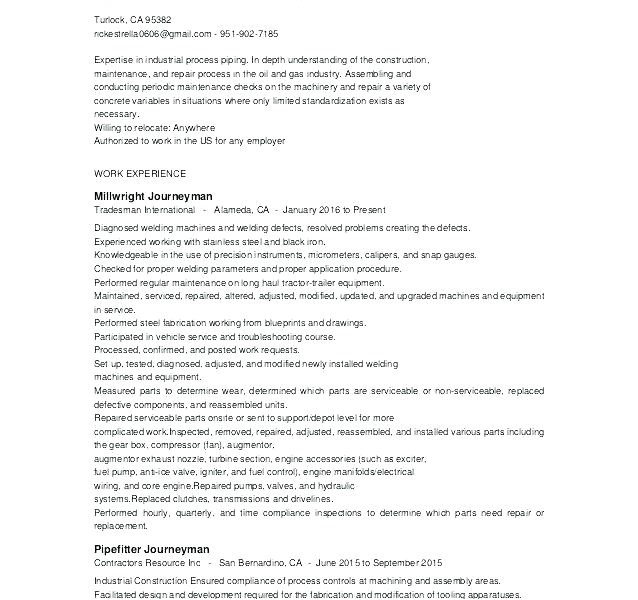 Tradesman Resume Template Pretty Free Resume Templates for Tradesmen Pictures