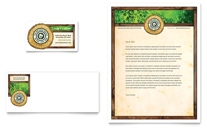 tree service business card letterhead template design hm0060401