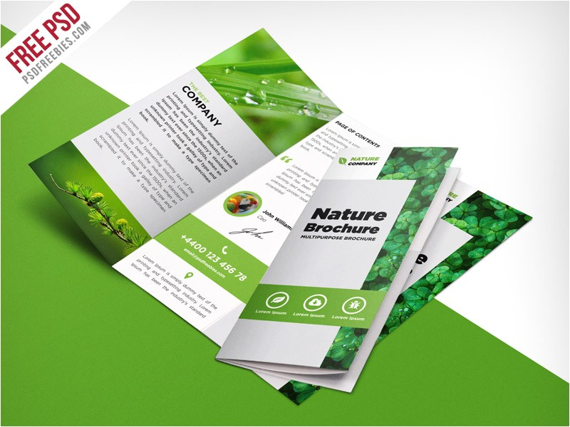 brochure templates free download psd 45 free psd tri fold bi fold brochures templates for promoting printable
