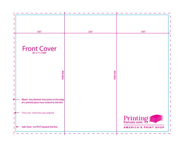 indesign brochure templates free tri fold