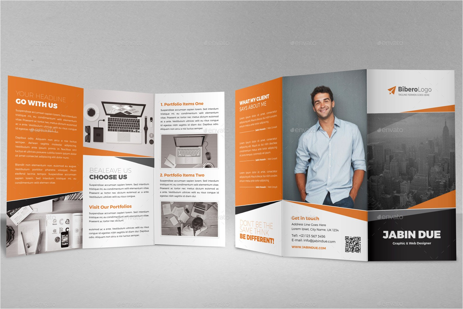 tri fold brochure indesign template