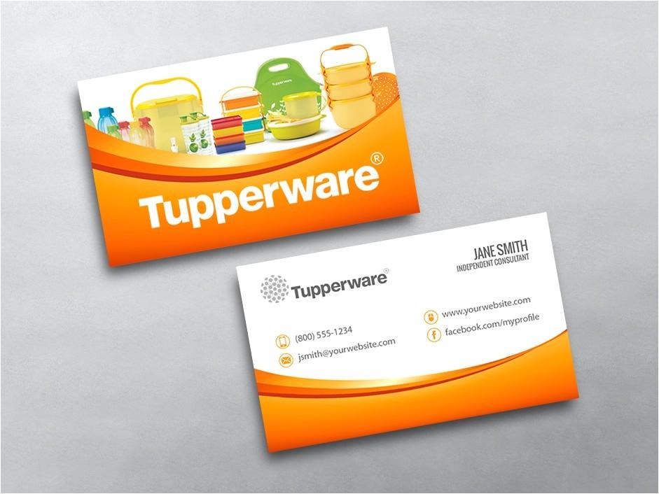 tupperware business card 02