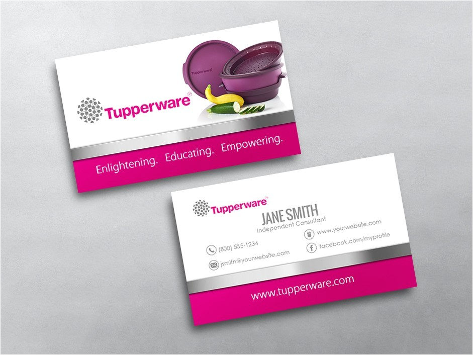 Tupperware Business Cards Template Tupperware Business Cards