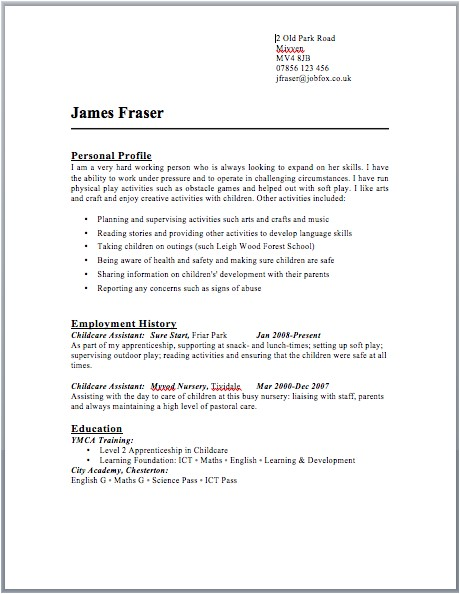Uk Resume Template Free Cv Template Microsoft Word Uk