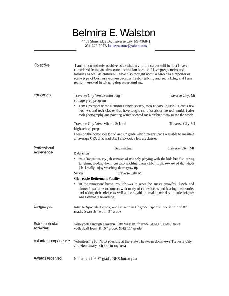 ultrasound technician resume