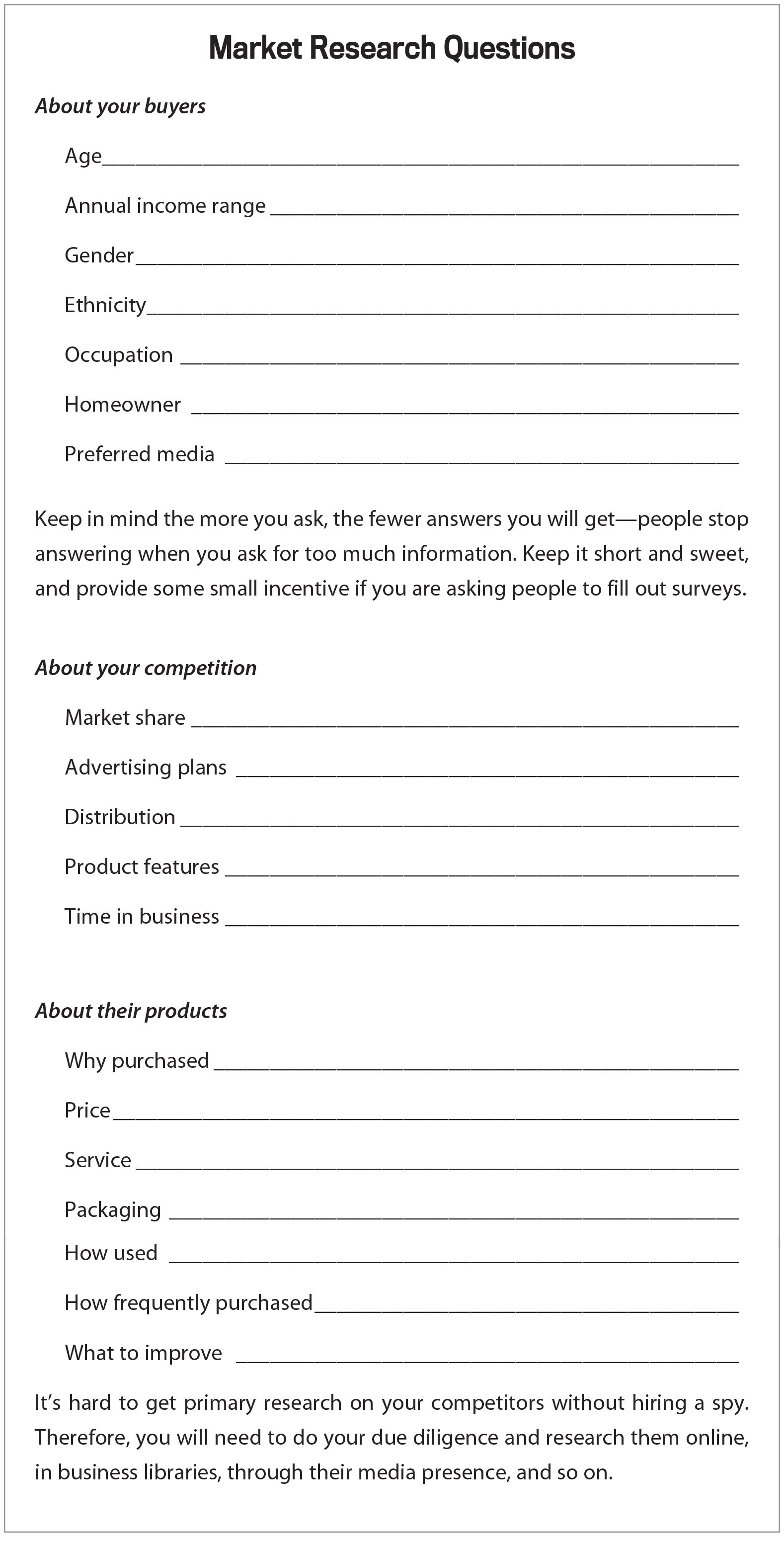 business plan template and guide