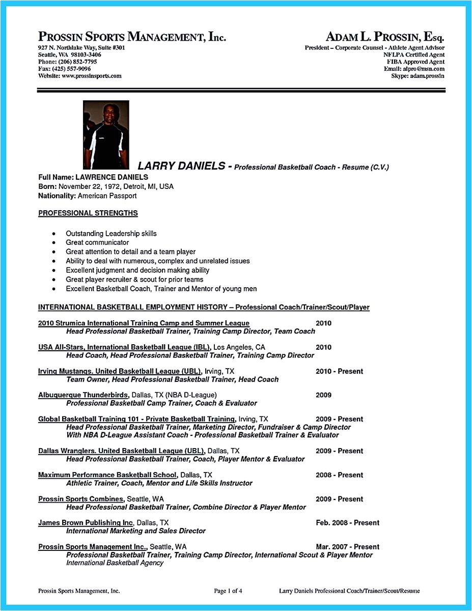 Volleyball Player Resume Template Awesome Captivating Thing for Perfect and Acceptable