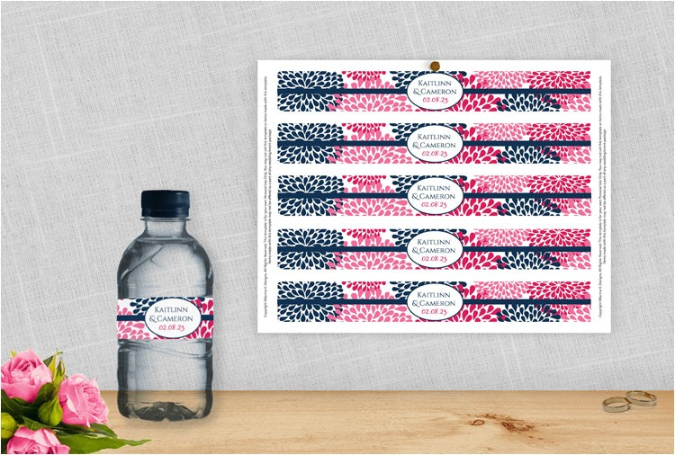 diy water bottle label template for
