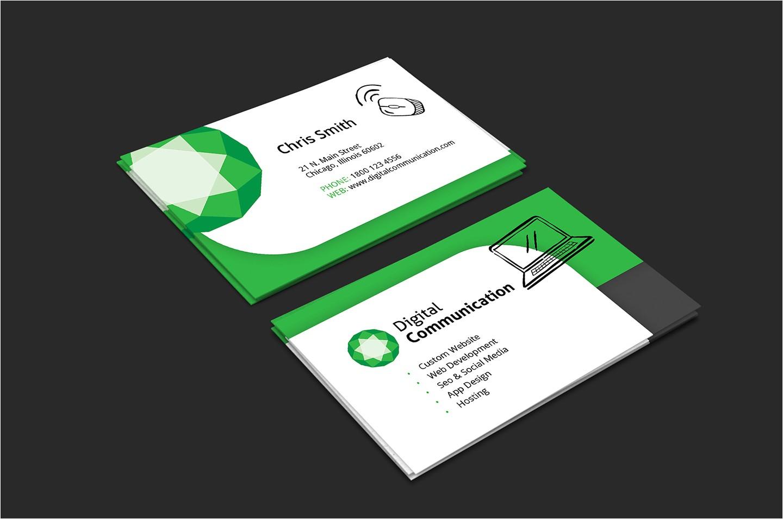 web design business card template