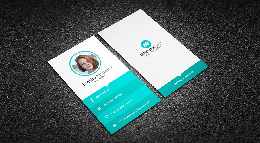clean web developer business card template