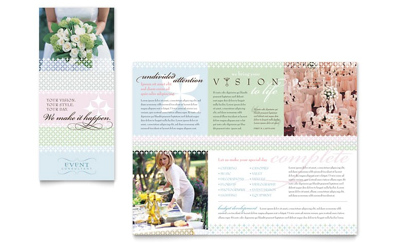 wedding event planning brochure templates gb0450101d