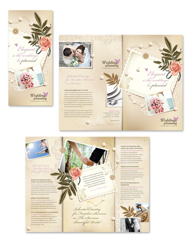 wedding planner tri fold brochure template