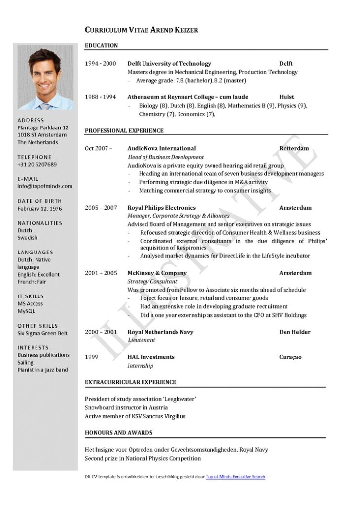 What is Cv Resume Sample Curriculum Vitae Resume Cv Example Template