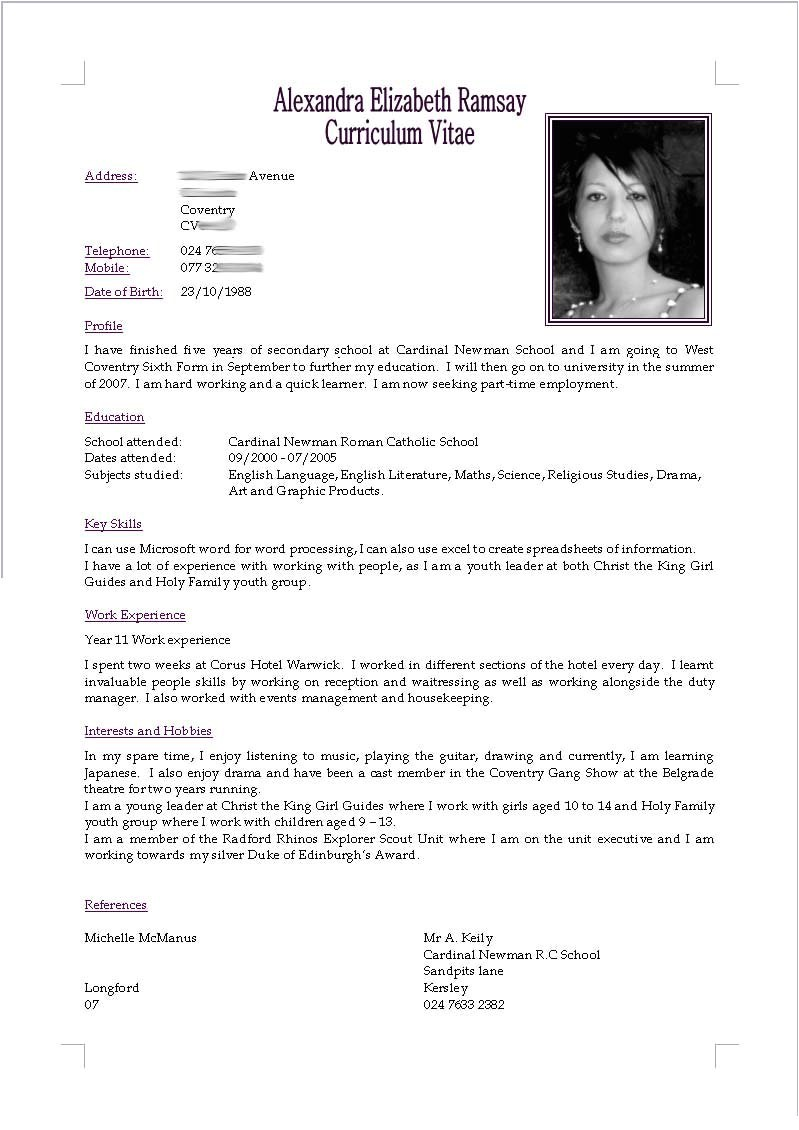 What is Cv Resume Sample Cv Resume by Akugouhime On Deviantart