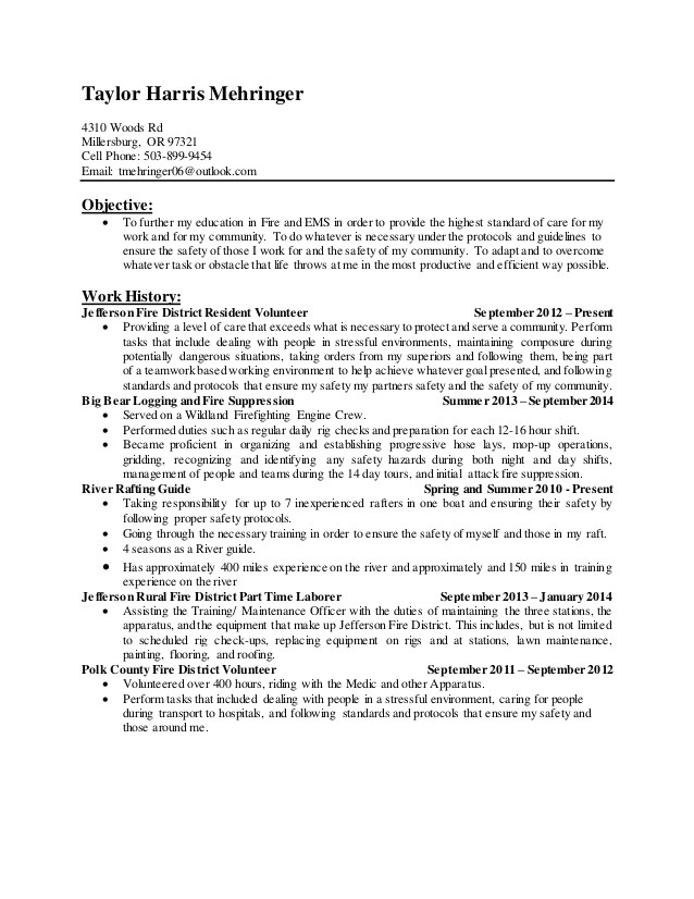 firefighter resume updated march 2015 45678980
