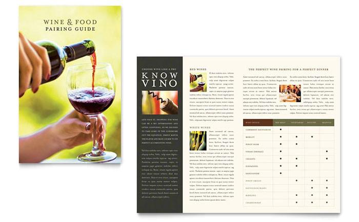 vineyard winery brochure template design fb0080101
